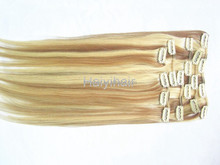 Grade 7A Quad Weft Clip In Hair Extensions Brazilian Remy Human Hair One Piece Clip In Human Hair Extensions