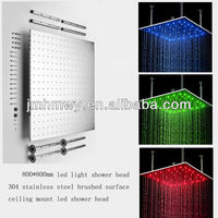 """Amazing made in China 31"""" 304 ss led change color shower head with arms"""