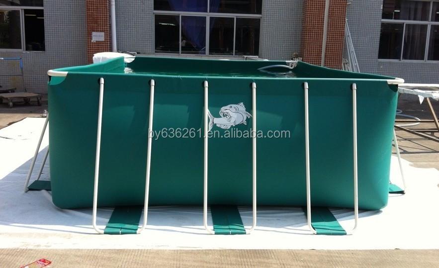 Flexible plastic fish pond for fish farm outdoor pvc for Outdoor plastic ponds