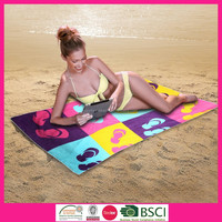 100% Cotton Promotion Velour Reactive Printed Beach Towel for Adults