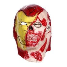 Scary Halloween Adult Latex Full face Mask Fancy Dress Horror Devil mask with wig