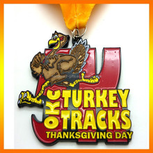 Engraved Soft Enamel Antique Silver Thanksgiving Day Holiday Metal Medal