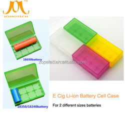 High quality transparent colorful plastic 18350 16340 18650 battery box,battery holder box to carry 2pcs or 4pcs from Jomo