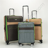 Cabin size fabric hand luggage set, carrier trolley baggage