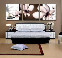 3 Piece Magnolia pink flower Hot Sell Modern Wall Painting Purple Flowers Home Decorative Art Picture Paint on Canvas Prints