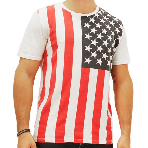 high quality custom men american flag t shirt view flag t
