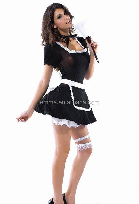 BWG-4004  sc 1 st  Alibaba & Halloween Fancy Dress Adult Women French Maid Costume High Quality ...
