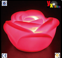Red Romantic Flower Candle LED Light Party