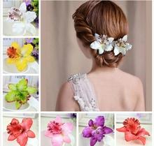 Thai Orchid Hair Accessories Bridal Big Flower Wedding Hair Bands