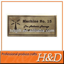 rigid durable etching and fill color aluminium nameplate for motors