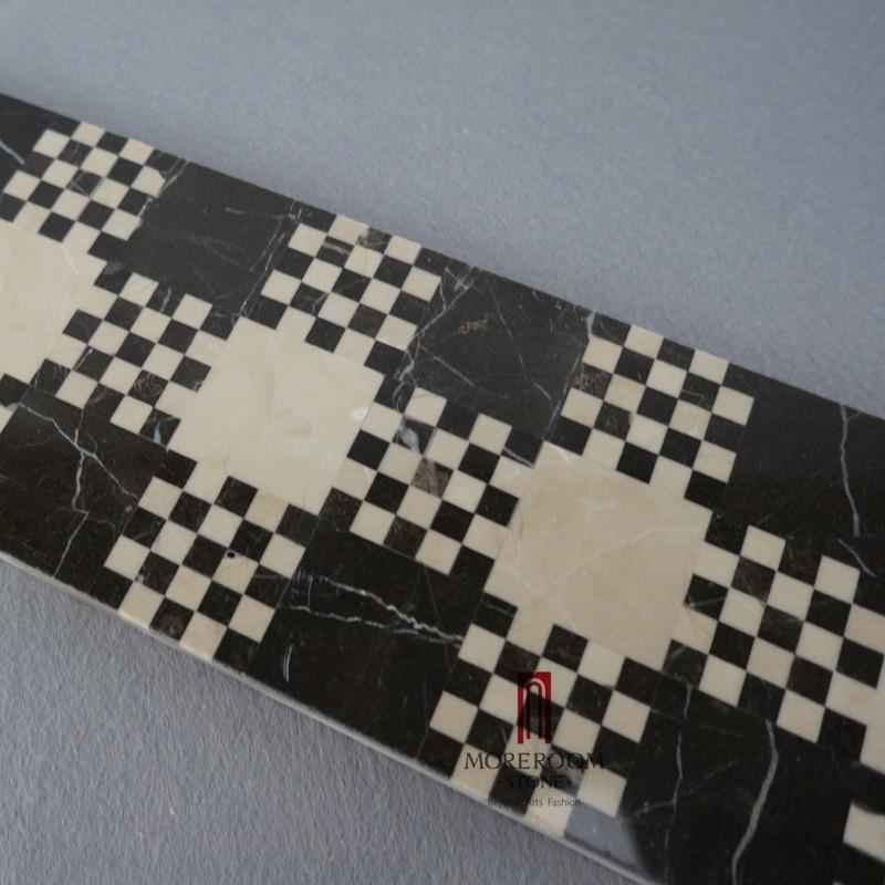 MBD59MG1260 NERO MARGIUA MARBLE STONE PRICE MARBLE MOSAIC border tiles MOREOOM SRONE-4.jpg