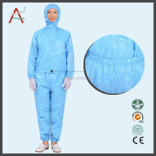 Polyester ESD acid resistant workwear/Cleanroom pp coverall/Antistatic doctors overall