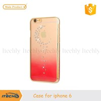 Itechly Luxury Crystal Rhinestone Diamond Gold Slim Shining Bling Electroplating Case For iPhone 6 6p 5s 5 4.7""