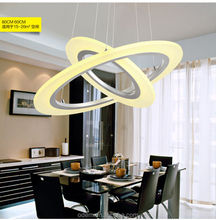 2015 hot selling Modern led pendant light frosted acrylic double ring silver Chandelier
