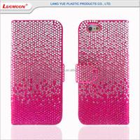 Diamond PU leather case for s4 mini samsung galaxy s4 phone case