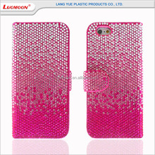 Diamond PU leather case for s4 mini samsung galaxy s4 phone case