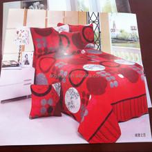 dark red castle love style adult big size 75gsm 100% polyester microfiber bedsheet sets