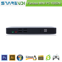 Win7 K662N mini pc for school use silver aluminium alloy case 8 USB embedded