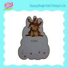 Kids fabric cartoon name sticker for cloth