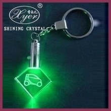 Free Artwork customized 3d laser crystal photo keychain