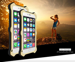 For iphone 6 plus case Waterproof Shockproof Dirtproof Snowproof Aluminum Hard Metal Case Cover with Glass Screen Protector