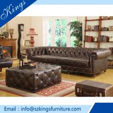 Vendida más sófa de cuero auténtico del mejor mayorista y fabricante de muebles