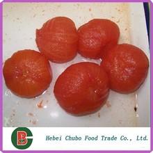 Toda pelado en lata verde fresco tomate fábrica
