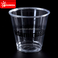 Custom printed disposable plastic 10 onz cup dome lid