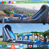 US hot sale 24ft tall jungle theme Giant Inflatable Water Slide for adult