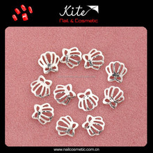 Fashion 3D DIY crowns shaped nail art decoration hot sale metal nail decorate nail decorator