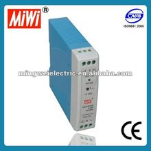 MiWi 85-264VAC input Din Rail Switching Power Supply(MDR-20-24) 20w 24v 1a