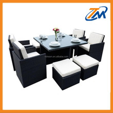 TM-RS901 8 seats hot sale cheap price high quality rattan outdoor furniture