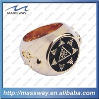high quality OEM fashionable championship golden brass finger ring