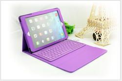 Integration Bluetooth keyboard case for ipad air leather case with stand for iPad air 2 leather shell with mini keyboard