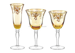 Stemm Gold-rimmed Glassware Crystal Drinking Whisky Wine Glass