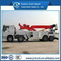 SINO 8X4 heavy wrecker truck,heavy hydraulic duty road wrecker towing truck for sale