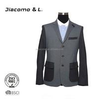 2015 New three button black business suits slim fit men suit