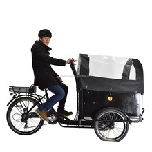 CE Electric baby cargo tricycle with closed body