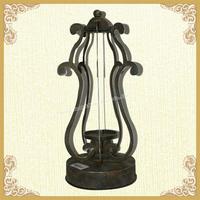 Metal candle lantern,shabby decor