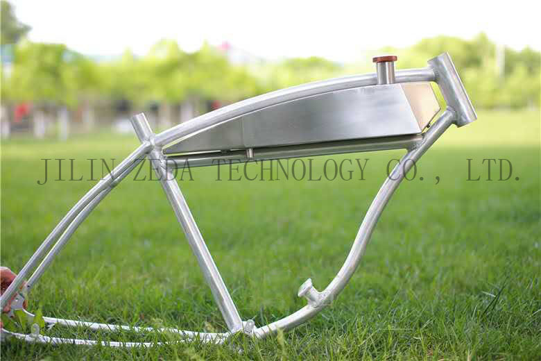 Aluminum bicycle frame bike frame with built in gas tank Best frame for motorized bicycle
