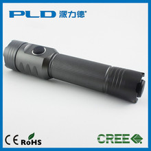 New producttwo dual button switch Aluminium USB 18650 rechargeable XML T6 LED tactical flashlight