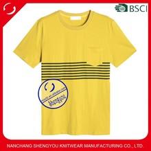 2015 China manufacturer wholesale custom printing men t shirt with pocket