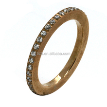 Fashion Women Engagement Jewelry 18K Rose Gold Plating Zircon Female Wedding Finger Rings