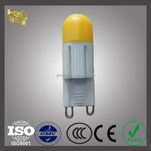 Hongerlai CE RoHS G9 2W COB Epoxy Resin Ceramics 3 years warranty LED G9