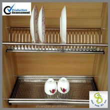 Professional production stainless steel dish rack & kitchen unique dish rack & kitchen dish and bowl (guangzhou)