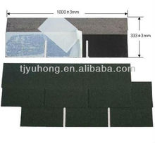 Single layer roofing shingles