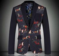 china factory colorful men suit Top Fashion Slim fit Men's Korean Style Print Full Sleeve Suit