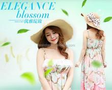 Wholesale fashion Large Floppy Brim Summer Beach Straw Hat
