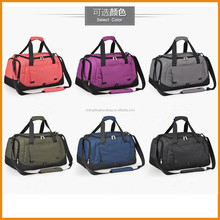 Large capacity high quality nylon sport travel duffel bag with shoe cpmpartment