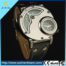 2015 Leather Strap Wrist Watch Men Luxury Military Quartz Watches